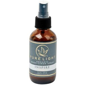Pure Light Organic Body Spray + Room Spray + Linen Spray - Inspire 3.4 oz.
