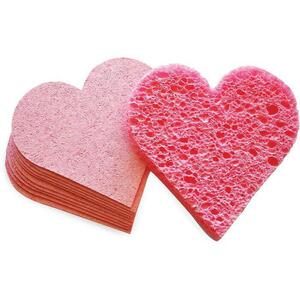 Intrinsics Heart Compressed Sponges - Pink 75 Pack