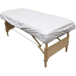 "Sanitary Protective Treatment Table Cover - White 32""W x 73""L x 7""D"