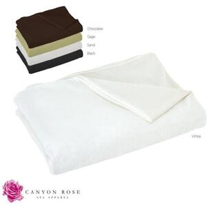 "Canyon Rose Cloud 9 Microplush Spa Blanket White 80"" L x 58""W"