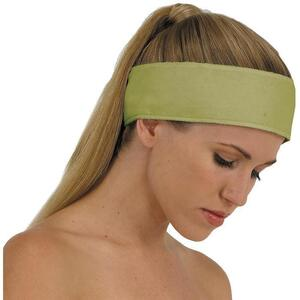 "Canyon Rose Cloud 9 Microplush Headband - 3"" Wide with Velcro Closure Sage"