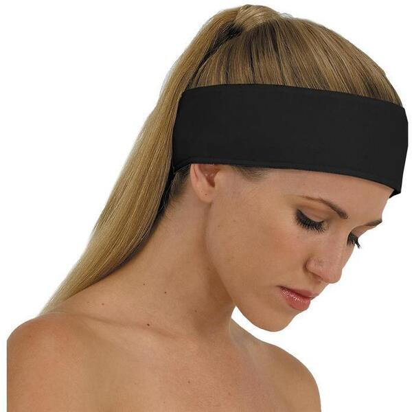 "Canyon Rose Cloud 9 Microplush Headband - 3"" Wide with Velcro Closure Black"