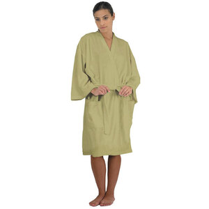 "Canyon Rose Cloud 9 Microplush Spa Robe - 42"" Long - One Size Fits Most Sage"