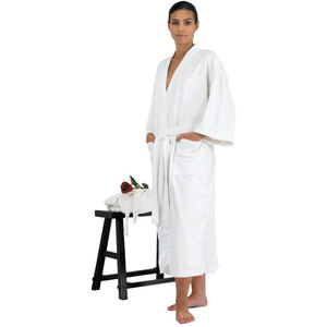 "Canyon Rose Cloud 9 Microplush Spa Robe - 48"" Long - One Size Fits Most White"
