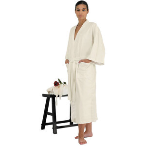"Canyon Rose Cloud 9 Microplush Spa Robe - 48"" Long - XL Sand"