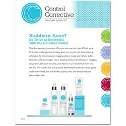 "Control Corrective - Counter Card O2 Clear Facial 8.5"" x 11"""