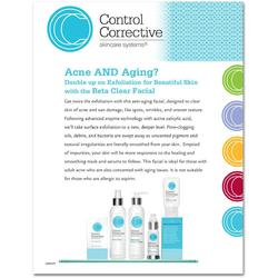 "Control Corrective - Counter Card Beta Clear Facial 8.5"" x 11"""