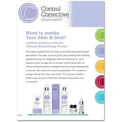 "Control Corrective - Counter Card Classic Nourishing Facial 8.5"" x 11"""