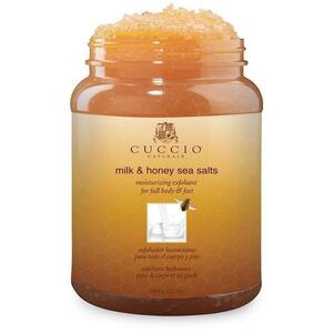 Cuccio Milk & Honey - Moisturizing Sea Salt Exfoliant for Full Body & Feet 78 oz.