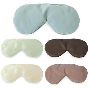 "Sposh Taffeta Herbal Eye Pillow - 8.75"" x 4"" Available in Agate Blue Java Enchanted Moonstone Cream and Tea Leaf"