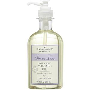 Aromafloria Stress Less Bath & Body Massage Oil - Lavender Massage Oil 9 oz. - 266 mL.