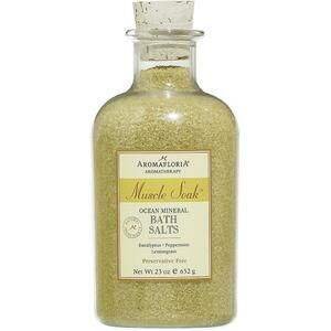 Aromafloria Muscle Soak Ocean Mineral Bath Salts - Eucalyptus Bath Salts 23 oz. - 652 grams