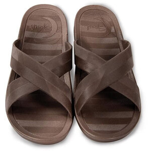 Sposh Cross Strap Sandal - Affordable & Sanitizable Brown