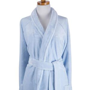 "Sposh Chelour Robe One Size Fits Most - 48"" From Shoulder - Spa Blue"