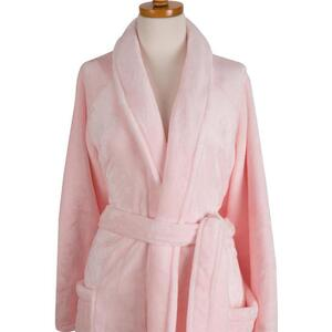 "Sposh Chelour Robe One Size Fits Most - 48"" From Shoulder - Pink"