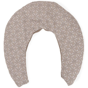 "Sposh C Shaped Neck Wrap Moonstone Taupe Rattan - 13.5"" W x 12"" L"