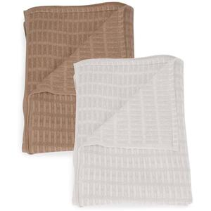 "Sposh 100% Cotton Blankets - 66""W x 90""L Available in White and Tan"