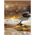 Farmaesthetics Counter Card - Deep Lavender Body Treatment