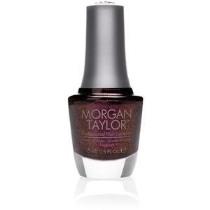Morgan Taylor Nail Lacquer - Seal the Deal (Burgundy With Fuchsia Glitter) 0.5 oz.