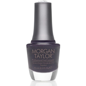 Morgan Taylor Nail Lacquer - Lust Worthy (Dark Purple Gray Creme) 0.5 oz.