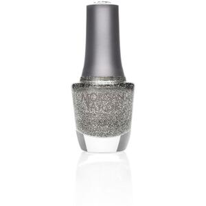 Morgan Taylor Nail Lacquer - Time to Shine (Pewter Glitter) 0.5 oz.