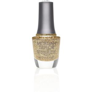Morgan Taylor Nail Lacquer - Glitter and Gold (Gold Glitter) 0.5 oz.