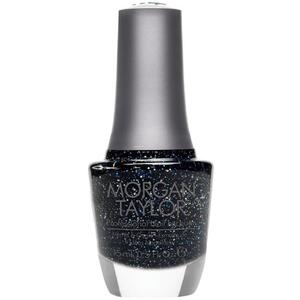 Morgan Taylor Nail Lacquer - Under the Stars (Midnight Blue With Holographic Glitter) 0.5 oz.
