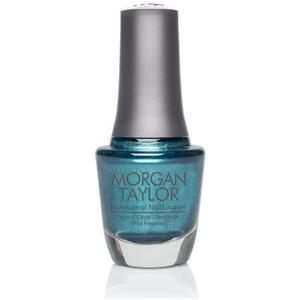 Morgan Taylor Nail Lacquer - Wrapped in Riches (Emerald Glitter) 0.5 oz.