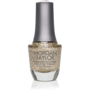 Morgan Taylor Nail Lacquer - Where's My Crown? (Deep Gold Glitter) 0.5 oz.