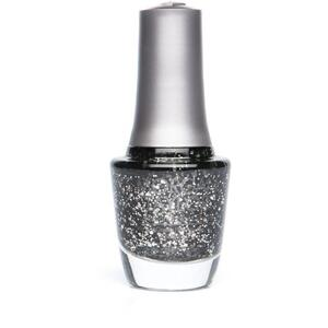 Morgan Taylor Nail Lacquer - Better in Leather (Black With Silver Glitter) 0.5 oz.
