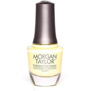 Morgan Taylor Nail Lacquer - Ahead of the Game (Soft Pastel Yellow Shimmer) 0.5 oz.