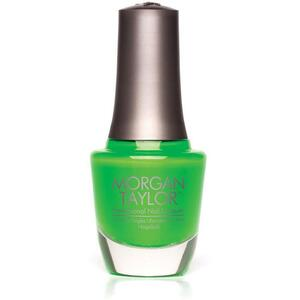 Morgan Taylor Nail Lacquer - Go For The Glow (Lime Green Creme) 0.5 oz.