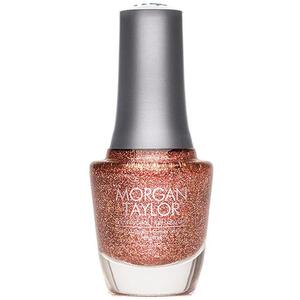 Morgan Taylor Nail Lacquer - Don't Rain On My Masquerade (Bronze Pink Glitter) 0.5 oz.