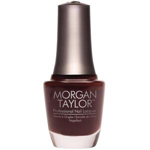 Morgan Taylor Nail Lacquer - Pumps Or Cowboy Boots? (Black Brown Creme) 0.5 oz.