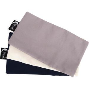 Sposh Eye Pillow Replacement Covers - Set of 3 Colors Pelican Grey + Natural + Navy