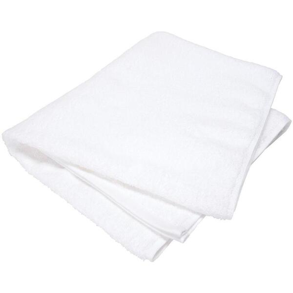 "Sposh Professional Large Hand Towel - White - 100% Ring Spun Cotton Terry Loop 600gsm 16"" x 30"""