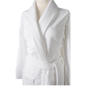 Sposh Kimono Robe - White - 100% Ring Spun Terry Loop Cotton