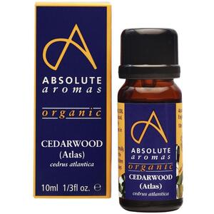Absolute Aromas - Organic Cedarwood Atlas Essential Oil 10 mL.