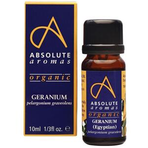 Absolute Aromas - Organic Geranium Egyptian Essential Oil 10 mL.