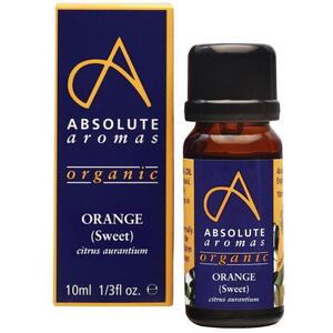 Absolute Aromas - Organic Orange Sweet Essential Oil 10 mL.