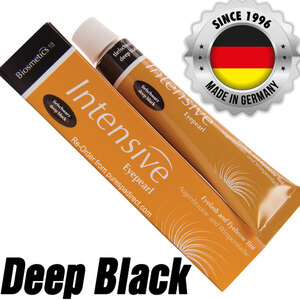 INTENSIVE LASH & BROW TINT - Original Orange Box EyePearl - Cream Hair Dye - Deep Black 20 mL. - The Original Since 1996 - Made in Germany