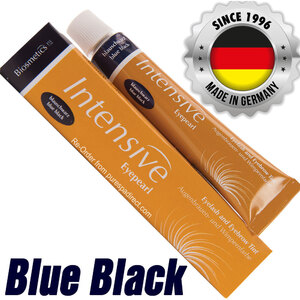 INTENSIVE LASH & BROW TINT - Original Orange Box EyePearl - Cream Hair Dye - Blue Black 20 mL. - The Original Since 1996 - Made in Germany