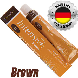 INTENSIVE LASH & BROW TINT - Original Orange Box EyePearl - Cream Hair Dye - Brown 20 mL. - The Original Since 1996 - Made in Germany