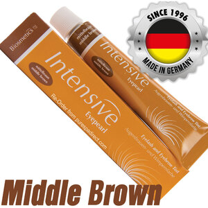 INTENSIVE LASH & BROW TINT - Original Orange Box EyePearl - Cream Hair Dye - Middle Brown 20 mL. - The Original Since 1996 - Made in Germany