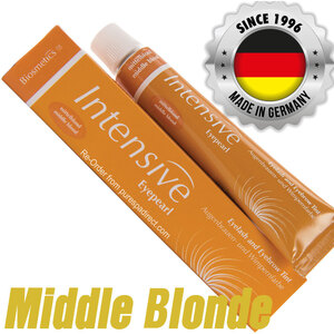 INTENSIVE LASH & BROW TINT - Original Orange Box EyePearl - Cream Hair Dye - Middle Blonde 20 mL. - The Original Since 1996 - Made in Germany