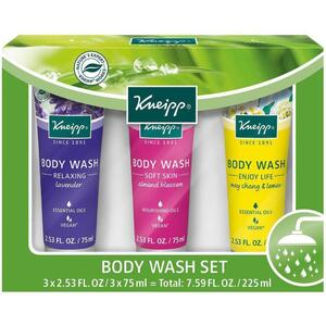 Kneipp Body Wash - Set 3 Body Washes - 2.53 oz. - 75 mL. Each