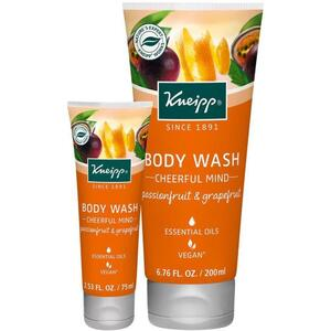 Kneipp Body Wash - Cheerful Mind - Passionfruit & Grapefruit 2.53 oz. - 75 mL.