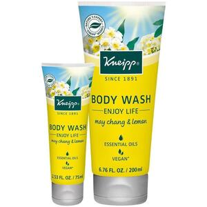 Kneipp Body Wash - Enjoy Life - May Chang & Lemon 2.53 oz. - 75 mL.