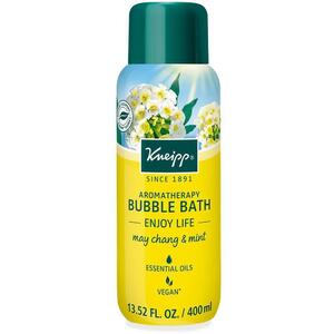 Kneipp Aromatherapy Bubble Bath - Enjoy Life - May Chang & Mint 13.52 oz. - 400 mL.