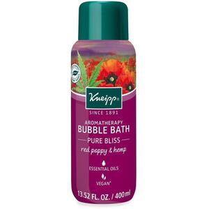 Kneipp Aromatherapy Bubble Bath - Pure Bliss - Red Poppy & Hemp 13.52 oz. - 400 mL.